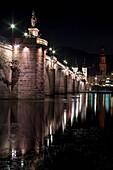 'Bridge crossing River Neckar; Heidelberg, Baden-Wurttemberg, Germany'