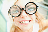 Young Girl With Funny Glasses