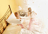 Girls Having Pillow Fight