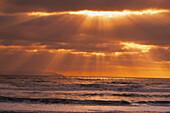 Sun Rays, Pacific Ocean, Alaska, Usa