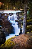 Athabasca Falls Early Morning Waterfall, Jasper National Park, Alberta, Canada