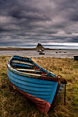 Row Boat On The Volcanic Shore Of Beblowe Craig, England