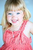 Little Girl In A Pink Dress