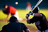 Baseball Player Up To Bat