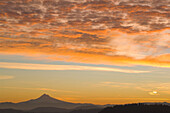 'Portland, Oregon, United States Of America; View Of The Sunrise Over Mount Hood From Mount Tabor'