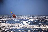 'Snoqualmie, Washington, United States Of America; A Man Kayaking Near Snoqualmie Falls'