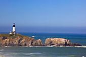 'Yaquina Head Lighthouse On The Coast; Oregon, Usa'