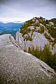'The Peaks Of Stawamus Chief, A Rock Climbing Destination; Squamish, British Columbia, Canada'