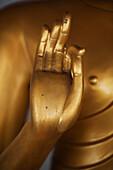 'Gold Statue In Doi Kham Buddhist Temple; Chiang Mai, Thailand'