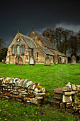 'An Old Church Under A Dark Sky; Northumberland, England'