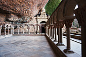 'Cloister With A Series Of Capitals With Biblical Scenes At The Monastery Of San Juan De La Pena; Huesca, Spain'