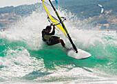 'Wind Surfing In The Ocean; Tarifa, Cadiz, Andalusia, Spain'