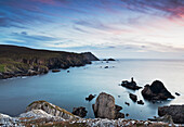 'Sunset Over The Irish Coastline Near An Port And Glencolmcille; County Donegal, Ireland'