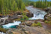 'Waterfall In The Canadian Rocky Mountains; Kananaskis, Alberta, Canada'