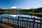'Reflection Of Mount Hood In Trillium Lake In The Oregon Cascades; Oregon, United States Of America'