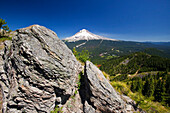 'Mount Hood In The Oregon Cascade Mountains; Oregon, United States Of America'