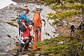 'Preparing For A Caving Adventure; Fernie, British Columbia, Canada'