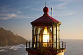 'Heceta Head Lighthouse Along The Oregon Coast; Florence, Oregon, United States Of America'