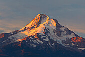 'Sunrise Over Mount Hood From Hood River Valley; Oregon, United States Of America'