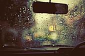 'Monsoon Rain On A Windshield; Uttarakhand, India'