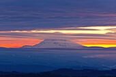 'Winter Sunrise Over Mount Hood; Oregon, United States Of America'