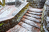 'Icy Steps By Latourell Falls; Columbia River Gorge, Oregon, Usa'