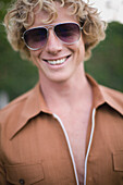 'Portrait Of Young Man In 1970S Style Clothing; Perth, Australia'