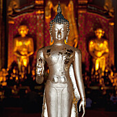 'Silver Statue At Wat Phra Singh Temple; Chiang Mai, Thailand'