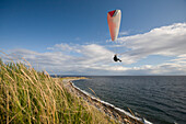 'Paragliding On The West Coast; Clover Point, Victoria, Vancouver Island, British Columbia, Canada'