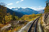'Railroad Along White Pass & Yukon Route; Skagway, Alaska, Usa'