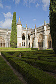 'Garden And Courtyard At The Santa Maria Da Vitoria Monastery; Batalha, Portugal'