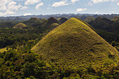 'The Tourist Destination Of The Chocolate Hills; Island Of Bohol, Philippines'