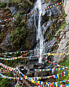 'Prayer Flags In The Buddhist Tiger's Nest Monastery; Paro Valley, Taktsang, Bhutan'
