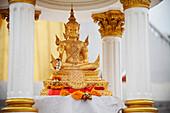 'Small Gold Seated Thai Buddha; Bangkok, Thailand'