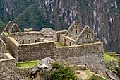 'View Of A Building In The Historic Inca Site Machu Picchu; Peru'