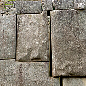 'Close-Up Of Stone Structure At Machu Picchu; Peru'