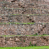 'Detail Of Incan Agricultural Terraces; Moray Peru'