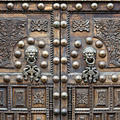 'Two Ornate Doors; Cusco Peru'