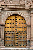 'Double Doors To An Ornate Building; Cusco Peru'