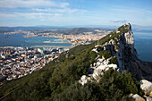 'Vista From Rock Of Gibraltar; Gibraltar United Kingdom'