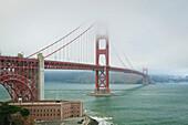 'Golden Gate Bridge In The Mist; San Francisco, California, United States of America'