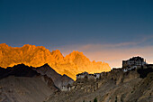'Buildings On The Edge Of Rock Ledges Beside The Mountains; Lamayuru, Ladakh, India'