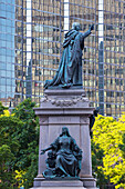 'Charity Statue And The Laurentian Building; Montreal, Quebec, Canada'