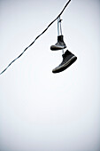Shoes Hanging From A Line