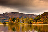 Shoreline With Fall Colors, Argyll And Bute, Scotland