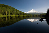 Mountain Reflected In Trillium Lake, Mount Hood National Forest, Oregon, United States Of America