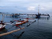 'Java Sea, Bali, Indonesia; Balinese Fishing Vessels'