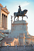 'Rome, Italy; Equestrian Statue Designed By Sacconi'