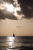 'Zanzibar, Tanzania; Sailing Into The Sunset'