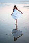 'Puerto Vallarta, Mexico; Girl On The Beach'